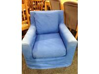 Armchair with removable cover