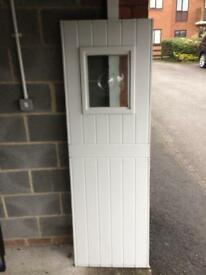 Pvcu door panels, 28mm thick, various sizes, all in excellent condition, 2 with resin bevels, £25.00