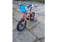 """Spider-Man kids 14"""" bike"""