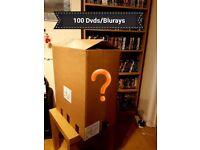 100 Dvd/Blurays Mystery Box