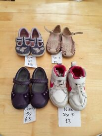 Toddler girls shoes size 5 and 6