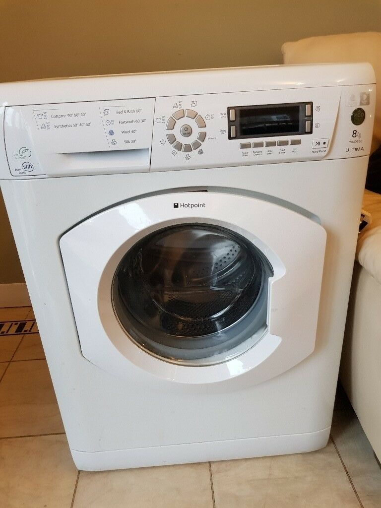 8kg Hotpoint White WMD960 EcoTech 1600RPM Washing Machine