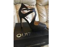 Grey shimmer high heel (brand new in box) - size 6