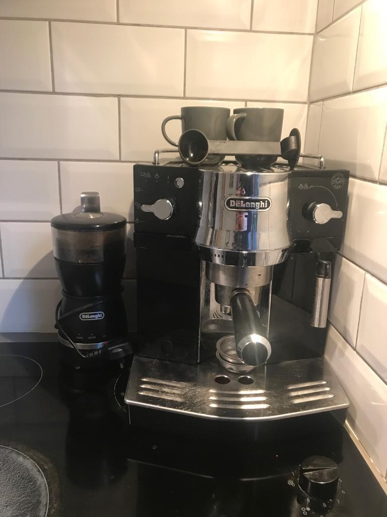 Delonghi coffee machine + grinder