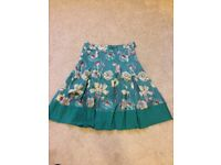 Jigsaw silk skirt, size 8. Very pretty, excellent condition.
