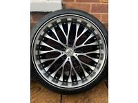 "X1 5x120 20"" BK Racing Alloy Wheel Vw T5 T6 BMW 3 5 6 7 series Vauxhall Vivaro Insignia"