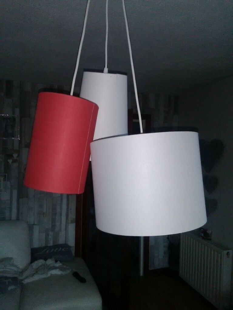 Stylish 3lamp Shades In One Ceiling Light