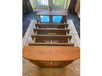 Bespoke, one of a kind, solid oak and glass top coffee table