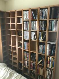 8x Ikea Gnedby (Billy) Bookcase DVD CD storage