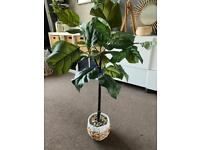 LARGE *NEW* FIG LEAF ARTIFICIAL FAUX HOUSEHOLD PLANT