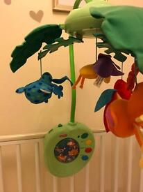 Baby cot mobile - fisher price Rainforest