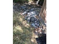 Broken paving slabs free for collection