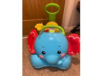 Fisher-Price 3-in-1 Bounce Stride and Ride Elephant Walker Ride On Blue