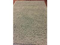 100cm x 140cm Shaggy Duck Egg Blue Rug Carpet