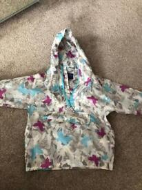 Pack Away Rain Mac age 3-4years (check junk email for response to messages)