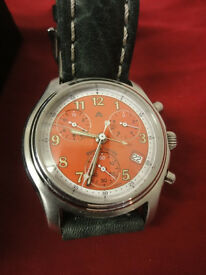 Maurice Lacroix chronograph gents watch model 04724 in new conditon box and papers