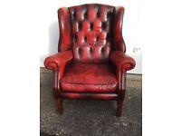 Leather Studded Armchair
