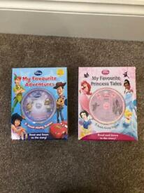 Disney Read Along Books with CD My Favourite Adventures Princess Tales incl Toy Story Little Mermaid