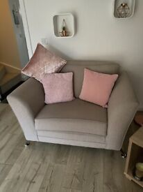 2 seater sofa and cuddle chair