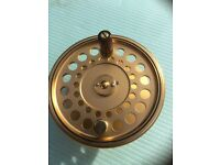 "Hardy Gold Sovereign salmon fly spool for reel """"Offers """""