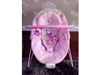 Bright Starts Pink Vibrating Bouncer