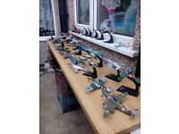 36 diecast Warcraft aeroplanes with stands forsale