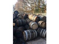 Oak Barrels, solid wood ex-whisky barrels