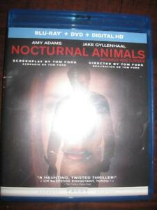 Nocturnal Animals (Blu Ray + DVD + Digital HD) Action Thrill Suspense Movie Film. Starring Amy Adams, Jake Gyllenhaal