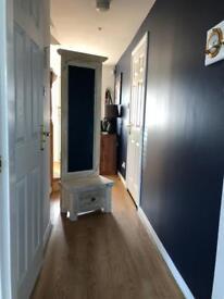 Wooden mirrored coat stand dresser