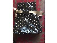 Cath Kidson Polka Dot Changing Bag with accessories
