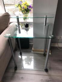 Small Glass Computer Desk