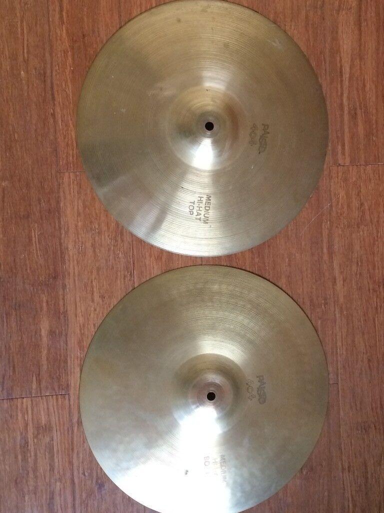 Wokingham Drum Sales - Paiste 404 Medium Hi Hat Cymbals - Similar to 2002s