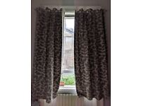 Large curtains with beautiful pattern