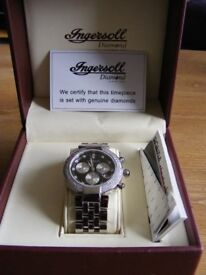 Gents Ingersoll 1ct. Diamond Watch