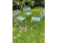 Vintage folding garden chairs lightweight X 3