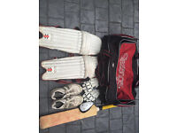 Cricket Kit - £40 ONO - Bag, pads, gloves, bat, spikes (size 11) and box - adult pads anf gloves