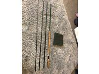 Salmon fly fishing rod