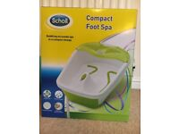 Scholl compact foot spa new in box