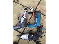 3 electric drills powerful industrial with chuck key. Not small toy drills ,heavy working used