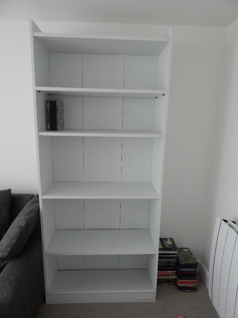 Free Free Free To Collect Tall White Bookcase With Deep