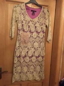 Designer occasion dress perfect for mother of bride. Size small