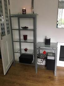 Glass unit and side table