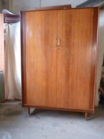 MID CENTURY Vintage Large Double Wardrobe Thomsons of Glasgow