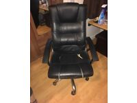 Black Leather Office Chair - Free - Tooting Bec Collection