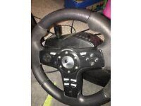 Logitech steering wheel for PS2