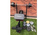 Maximuscle weights bench with 100kg