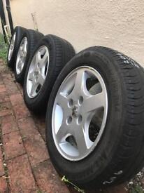 Peugeot 206 alloy wheels.