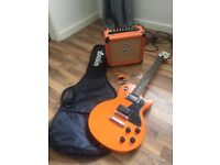 Limited edition orange guitar pack