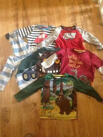 6 x boy long sleeved tops 1.5 to 2 years