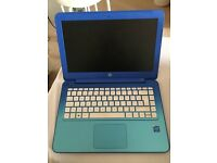 HP stream, dark blue laptop